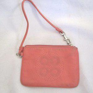 COACH SIGNATURE C Leather Wristlet Purse Wallet